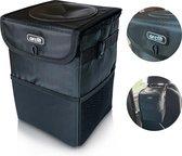 Arclit® | Auto prullenbak | 6 Liter | Draagbare voertuig vuilnisbak | Anti-lek en Opvouwbaar Afvalbakje | Extra Opbergzakken