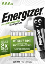Energizer Universal HR03 AAA battery (rechargeable) NiMH 500 mAh 1.2 V 4 pc(s)