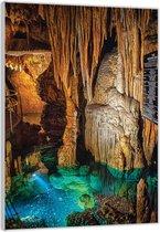 Plexiglas –Lichtgevende Rotsen– 80x120cm Foto op Glas (Wanddecoratie op Plexiglas)