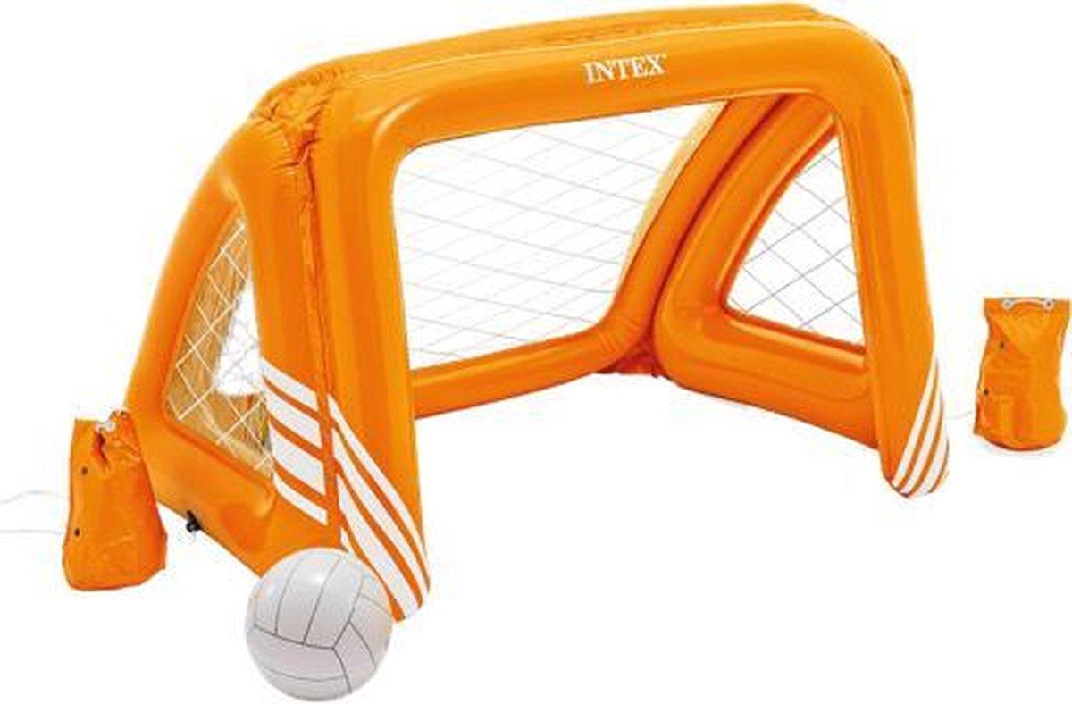 Intex opblaasbaar doel - waterpolo - oranje - inclusief bal
