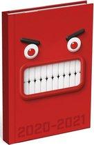 Schoolagenda Mixed Design Red Monster 2020 - 2021 (formaat A6+)