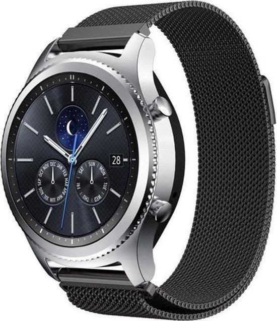 Milanees bandje Zwart geschik voor Samsung GEAR S3 & Galaxy Watch 46mm