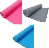 Yoga mat - Q4-life sport - Blauw - Grijs
