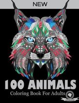 100 Animals Coloring Book For Adults