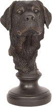 Clayre & Eef | Decoratie hond 14*14*27 cm | Zwart | Polyresin | Hond | 6PR2500