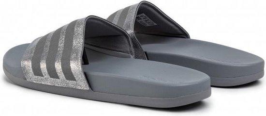 adidas Adilette Comfort slippers dames grijs/zilver