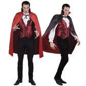 Cape vampier - Rood/Zwart - Carnavalskleding