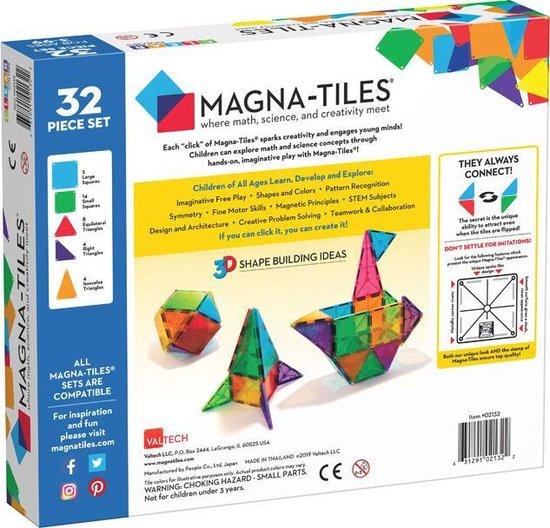 Magna-Tiles® Clear Colors 32