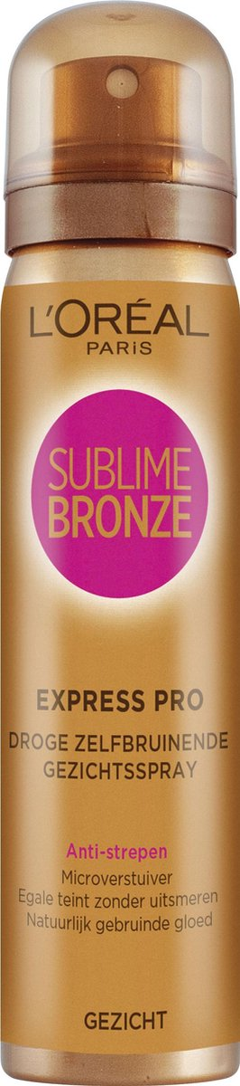 L Or al Paris Sublime Bronze - Zelbruinende Face Spray - 75 ml - Zelfbruiner voor het Gezicht