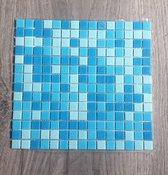 Mozaiek steentjes Blauw mix 210 stuks