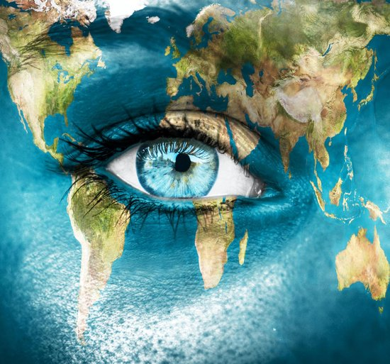 Luxe Wanddecoratie - Foto - Plexiglas & Dibond - UV Filter - Aluminium Ophangsysteem - Eye Of The World ...!