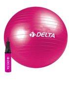 Venus Pilates en Yoga Fitnessballen  55 cm + Gratis 20 cm + Gratis Pomp   Spieroefeningen   Tegen Rugpijn   Gymbal   Gymnastiekbal   Fitnessballen   Fitness Bal - Roze en Blauwe kleur