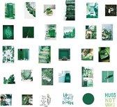 Bullet journal stickers vintage donker groen - avocado - bladeren - planten - cactus - quotes - 60 stuks - VSCO - bulletjournal stickers - scrapbook stickers - laptop sticker - telefoon sticker - stickers volwassenen - stickervellen