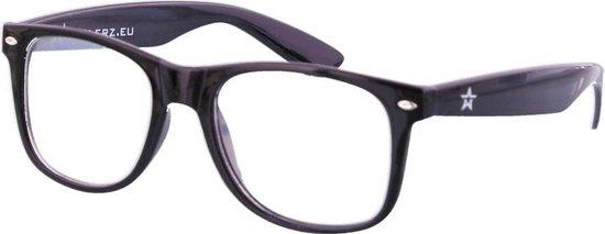 Spacebril - Space Bril - Caleidoscoop Bril - Kaleidoscoop Bril - Diffractie Bril - Zwart Wayfarer