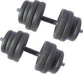 Dumbbell 2 x 15 kg - verstelbare Dumbbellset - halter - halterset - Totaal 30 kg