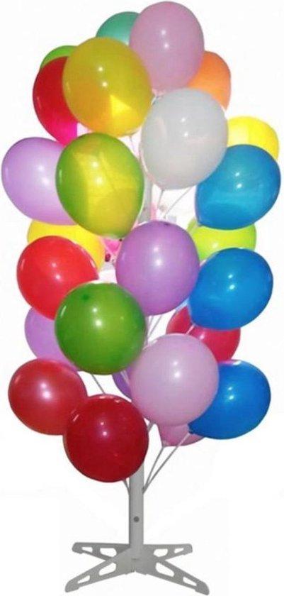 Ballonnenboom wit complete set incl ballonnen en stokjes
