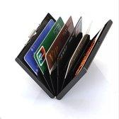LOUZIR Handige Creditcard Houder | Anti-Diefstal Pasjeshouder | RFID | 6 pasjes | Zwart