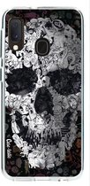 Samsung Galaxy A20e hoesje Doodle Skull BW Casetastic Smartphone Hoesje softcover case