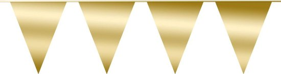 Slinger Vlaggenlijn Goud 10 Meter Verjaardag Slinger Voor Binnen En Buiten