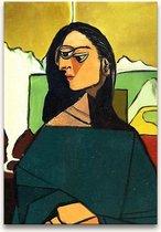 Handgeschilderd schilderij Olieverf op Canvas - Pablo Picasso 'Vrouw in Wachtkamer'