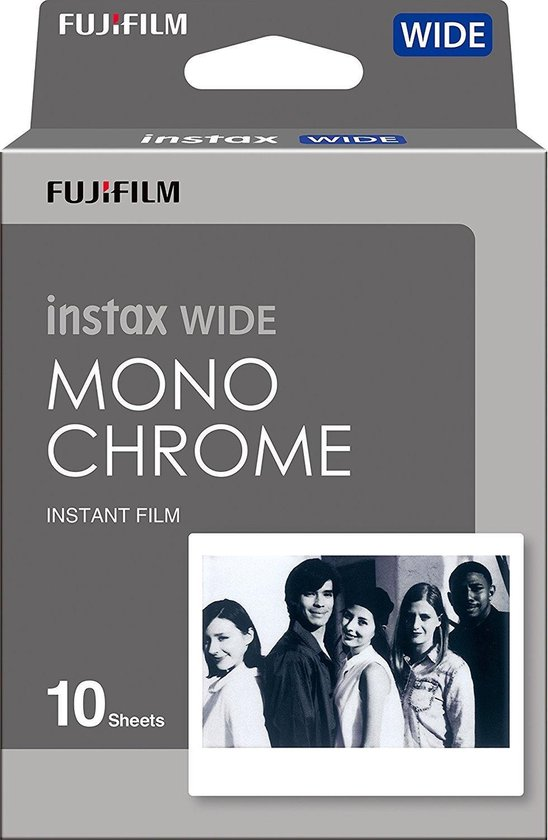 Fujifilm Instax Wide Film - Monochrome - 10 stuks