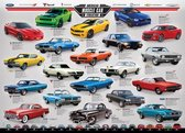 Puzzel 1000 stukjes-American Muscle Car evolution