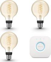 Philips Hue Starterspakket Filament - White - G93/E27 - 3 lampen