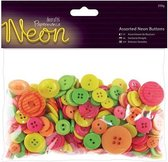 Docrafts Papermania Neon buttons PMA 354324 assorti 250 gram