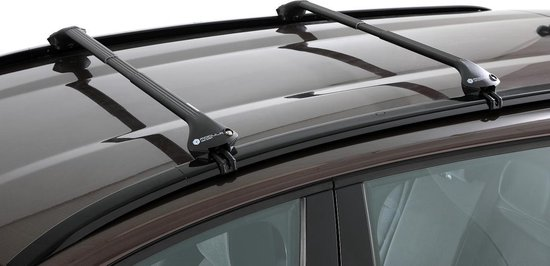 Modula dakdragers Mitsubishi Pajero Sport 5 deurs SUV vanaf 2016 met geintegreerde dakrails