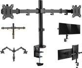 Monitorarm gaming 2 beelschermen - monitor beugel - draaibaar kantelbaar roteerbaar