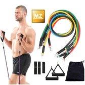 Weerstandsbanden set - fitness elastiek - hometrainer - thuis sporten