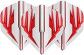 RED DRAGON - Hardcore Radical Wit en Rood extra dikke dart vluchten - 4 sets per pakket (12 dartvluchten in totaal)