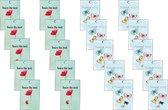 cadeaulabel - minikaartjes -gift tag  - thank you - minicard - bedankt - thanks - 20 st