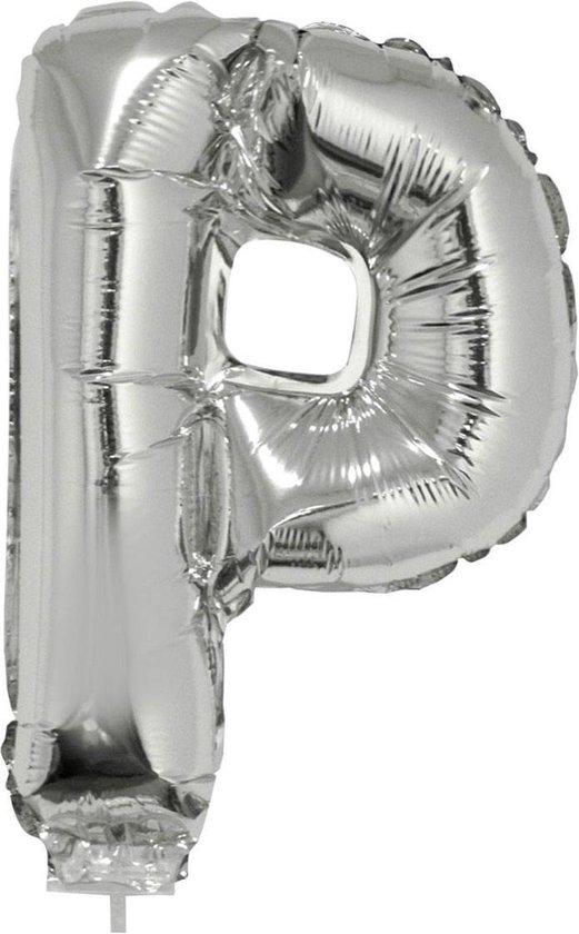 Folie ballon letter P Zilver