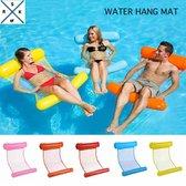 WaterHangmat- Rs&k Waterspeelgoed- Opblaasbare Waterhangmat- Zwembad - Opblaasbaar Voeten en Hoofdkussen stuk - Zwembad Lucht bed - Roze