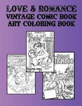 Love & Romance Vintage Comic Book Art Coloring Book