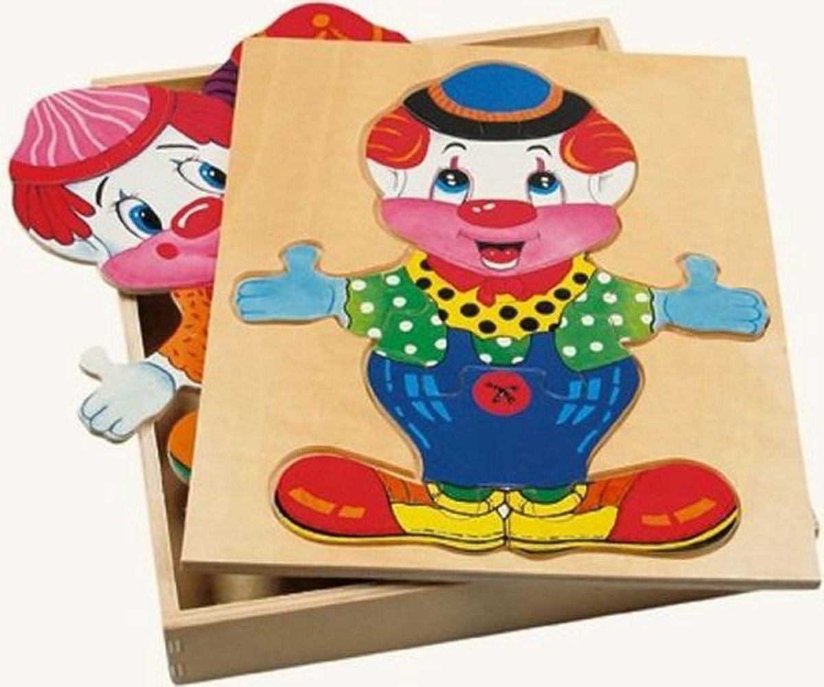Aankleedpuzzel clown Friedo