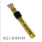 Off White - Apple Watch Bandje Uniek Handgemaakt 42/44mm