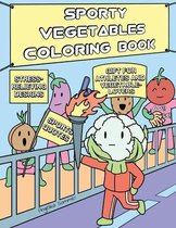 Sporty Vegetables Coloring Book