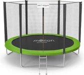 Trampoline - 312 cm - met net & ladder - groen