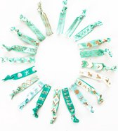 Moodadventures | Haar | Set van 20 Twist and Wrist Haarbandjes Turquoise