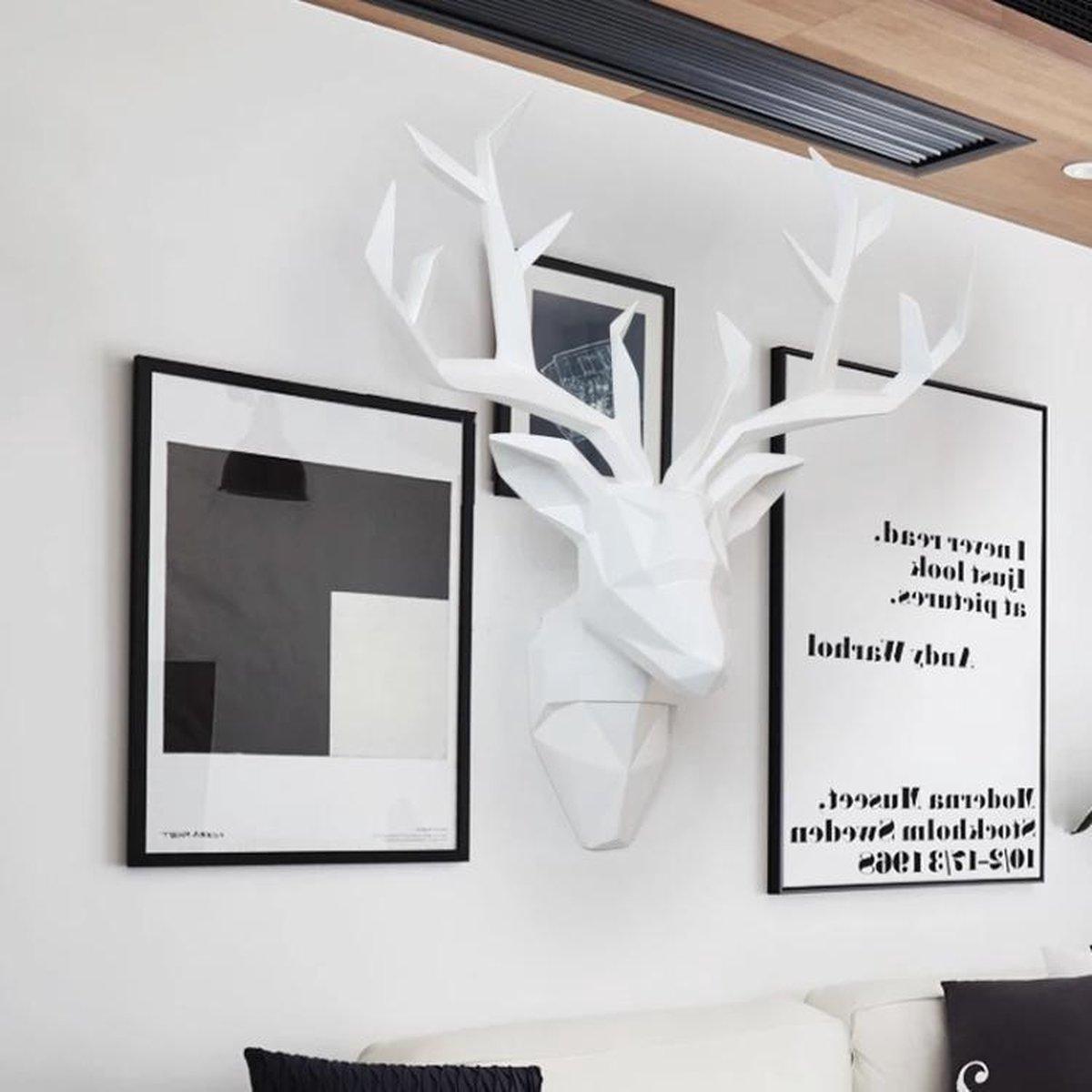 Bol Com Herten Kop Herten Gewei Decoratie Hert Hert Wit Hert Kunst Aan De Muur