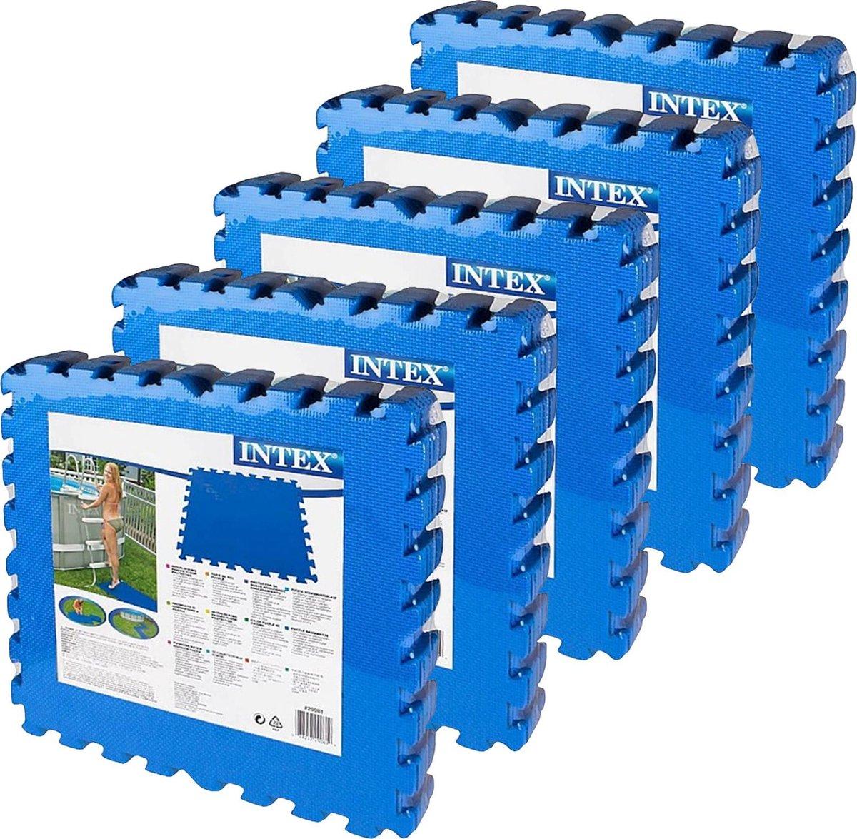 Intex - zwembad tegels - blauw - 50 x 50 cm - 40 tegels - 10 m2 - zwembad ondertegels