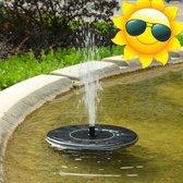 Fontein op Zonne Energie - Solar Fontein Pomp - Vijver Fontein - Milieuvriendelijke Fontijn - kleur Zwart