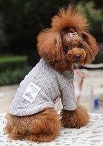Gebreide trui licht grijs voor de hond