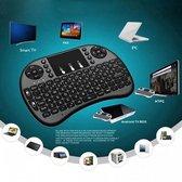 Draadloos Mini Toetsenbord   Draadloze Mini Keyboard voor TV Box, Smart TV, Spelcomputer  LED Backlight   USB Plug & Play   Zwart