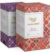 Combipakket van Recover En Erotica- 2 Doosjes van Yalda Herbs Kruidenthee-36 piramide theezakjes
