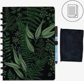 GreenBook - Whiteboard Notebook - A4 Lijn - Forest Green - met doekje