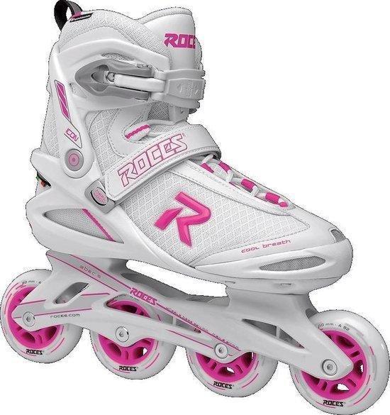 Roces Icon Women's inline skates - maat 37 - 80mm white / magenta