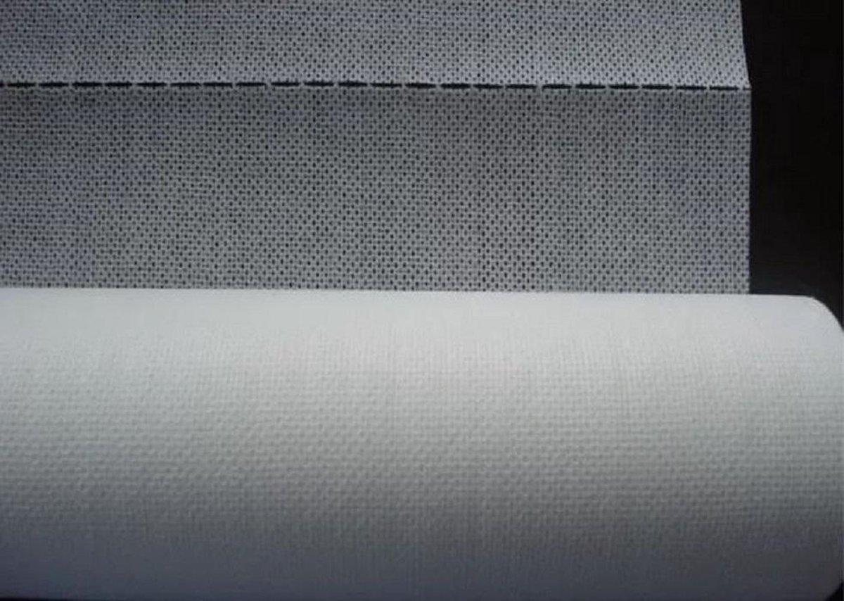 Stof voor filter voor mondkapje maken of mondmaskers maken 5 vel 20 x 49 cm 100% Polypropyleen wit
